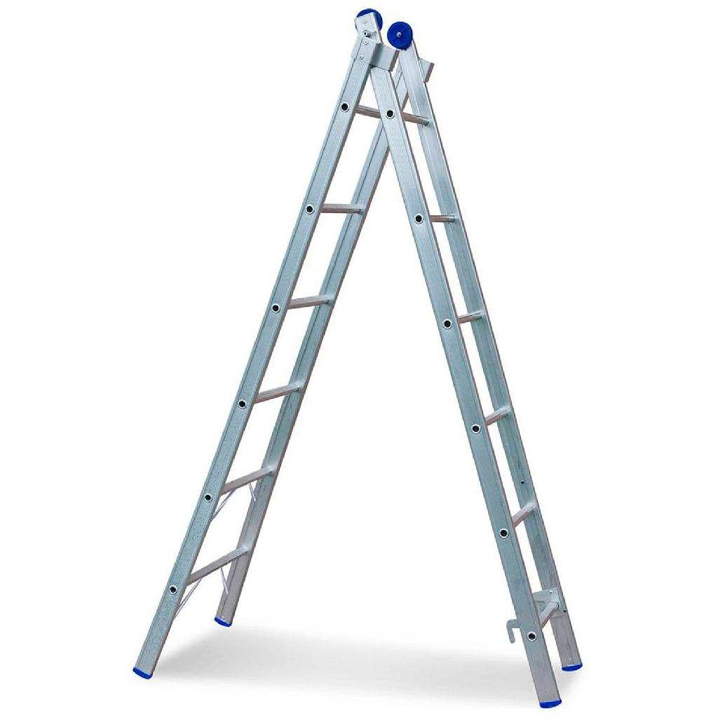 Escada articulada com plataforma