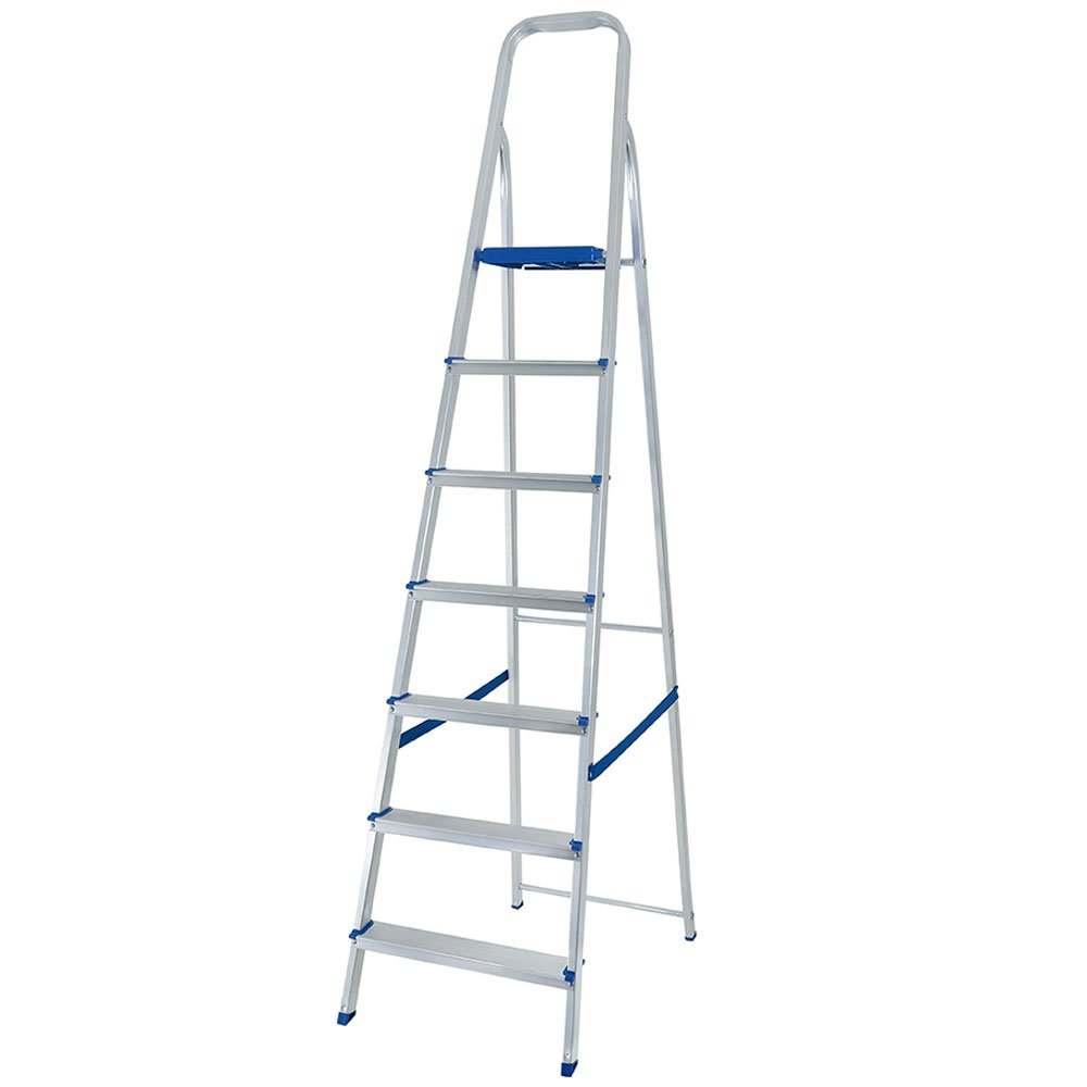 Escada de alumínio 7 degraus extensiva