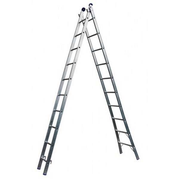 Escada de alumínio extensiva 9 degraus